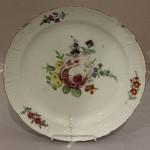 Большая тарелка с цветами ИФЗ. Екатерина 2-я. 1762-1790 год