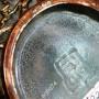 Стеклянный сосуд в медной оплётке. Драконы, карпы, иероглифы