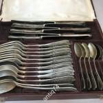 Полный набор столового серебра, на 6 персон, в родной коробке. Киев, 1955 год, 875 пр