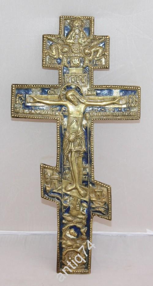 Большой крест-распятие. Эмали