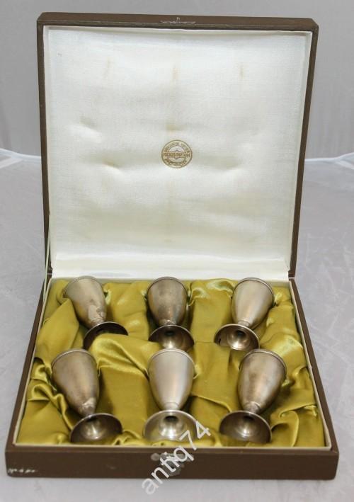Набор из 6 рюмок. Серебро, 875 пр. В родной коробке