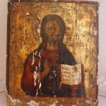 Большая икона Спас вседержитель. 43 на 38 см