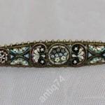 Брошь, брошка. Римская мозаика, смальта. Конец 19 века