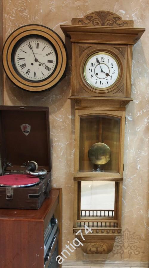 Огромные настенные часы (135см), с приятным боем, регулировкой громкости. Дуб