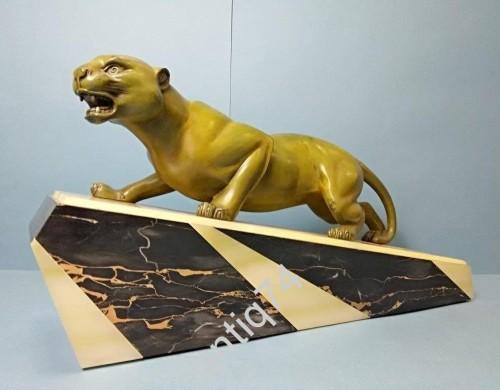 «Крадущаяся пантера». Скульптура в стиле Арт-Деко