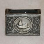 Спичечница с голубем. Серебро, 875 пр