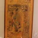 Старинное арабское панно с красивой надписью.... Маркетри - дерево, кость