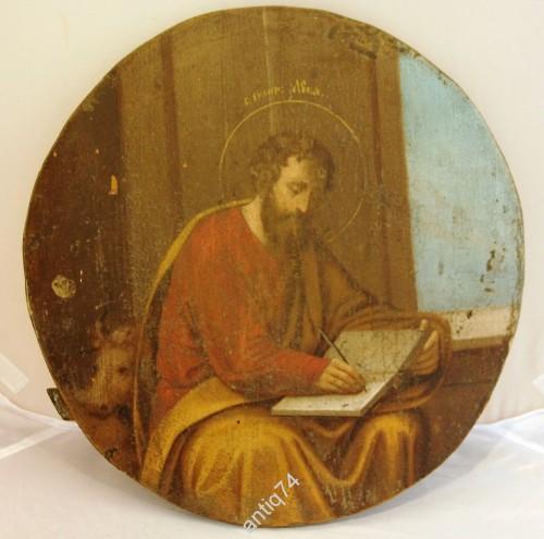 Круглая икона Евангелист Лука