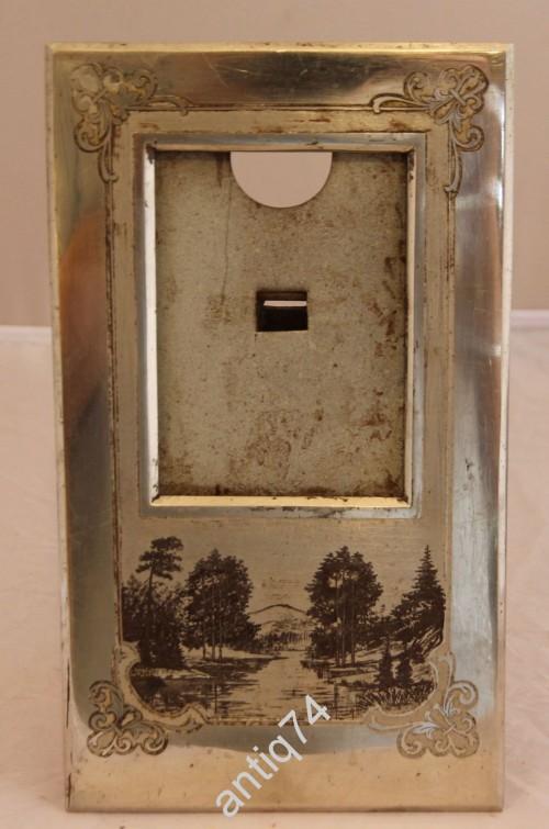 Настольная рамка для фото. Златоуст, 50-е годы. Гравюра на стали