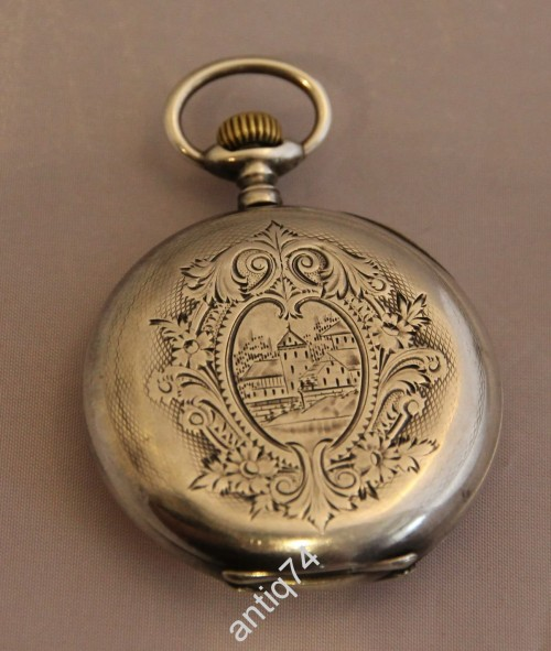 Часы карманные. Серебро. Borel