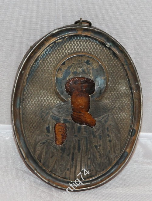 Икона Святой Владимир. Серебро, 84 пр.