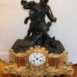 Каминные часы с рыцарем. Высота 50 см!