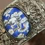 Женский браслет. Финифть, скань, драконы. Китай146585838 (1)