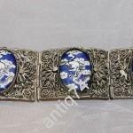 Женский браслет. Финифть, скань, драконы. Китай