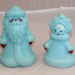 Дед Мороз и Снегурочка. Пластик