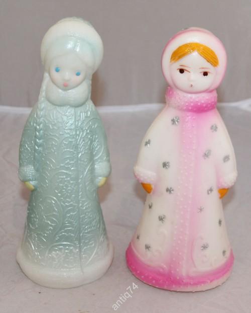 Две Снегурочки одним лотом. Пластик