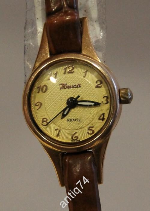 Часы женские, золотые Ника. 585 проба