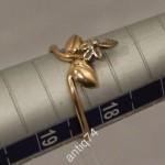 Нежное кольцо с цветком. Золото 583 пр., СССР