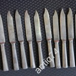 Ножи десертные. 10 шт. Серебро, 84 проба