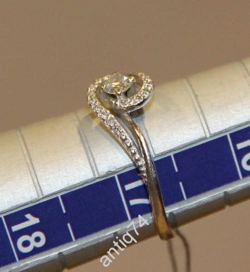 Кольцо с бриллиантом. Белое золото, 585 проба
