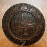 Тяжелая настенная тарелка. Достопримечательности Москвы. Медь