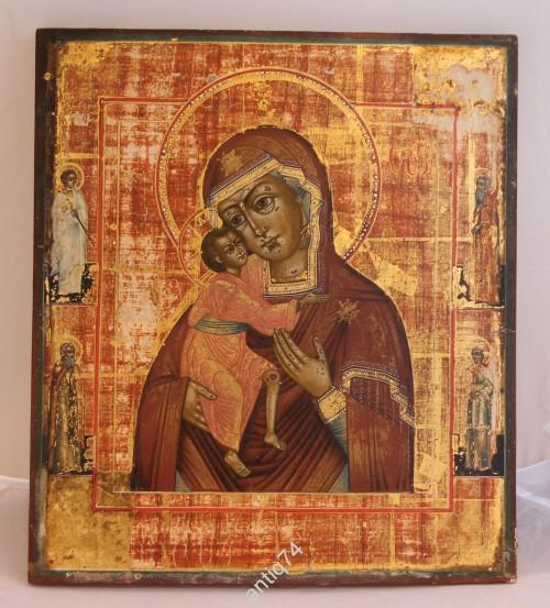 Икона Богоматерь Фёдоровская. Большая, золото