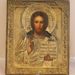 Икона Спас Вседержитель в красивом окладе