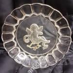Стеклянная тарелка с Амуром. До 1917г