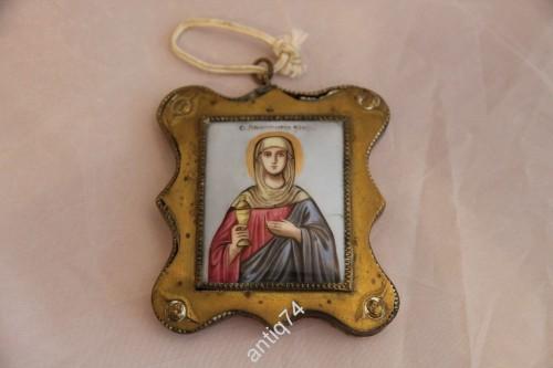 Икона Святая Анастасия. Ростовская финифть, эмаль