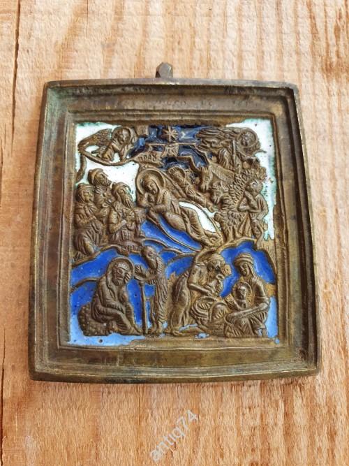 Рождество Христово. 4 эмали. МРСХ и А на обороте