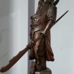 Огромный резной самурай, воин. Китай, Япония