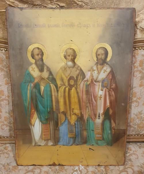 Икона Святые Василий, Григорий, Иоанн