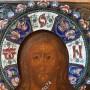 Икона Спас Вседержитель. Серебро. Расписные эмали. 1857 год