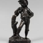Рыбак. Чугун, литье. Касли. 1889. Высота 17,5 см
