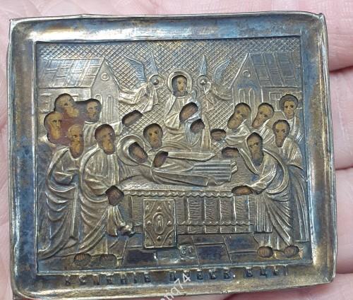 Икона Успение Богородицы. Серебро, 84 пр.