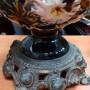 Красивая керосиновая лампа. Фаянс. Германия. 56 см