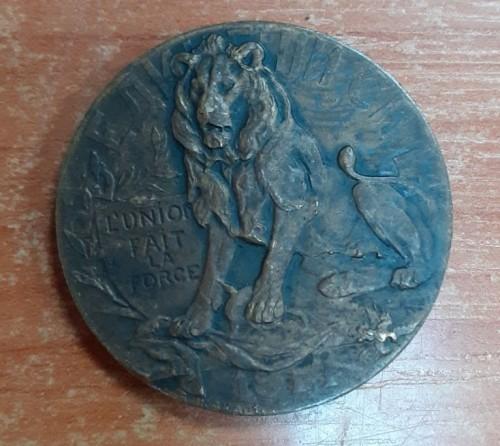 Жетон, медаль. Геройскому и благородному бельгийскому народу. 1914г. Жакаръ