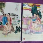 Фарфоровые плакетки с эротическим сюжетом. Китай, Япония