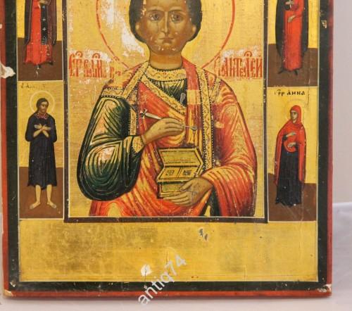 Икона Пантелеймон Целитель. Золото