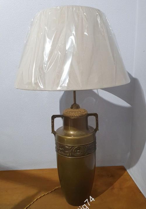 Большая настольная лампа. Бронза. Старая.