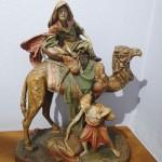 Большая, красивая фигура из терракоты. Погонщик верблюда, араб со слугой. До 1917г.