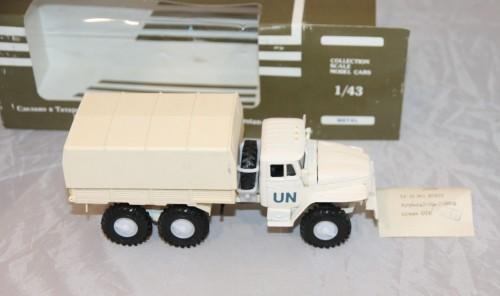 грузовик Урал ООН. в родной коробке. Моделька. 1:43