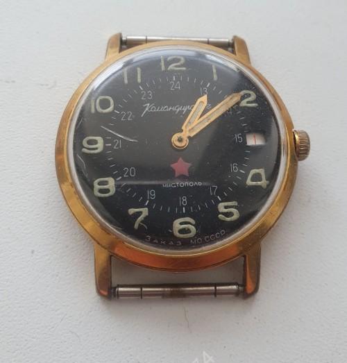 Часы Командирские на ходу! Позолота, противоударные, пылезащита. Ау20