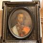 Нх. Портрет Ганнибала (?) А. П. Холст на картоне, масло. Красивая рама!