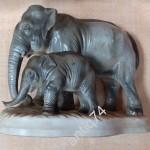 Пара слонов. Два слона. Германия