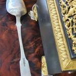 Огромная салатная ложка 29 см! Серебро, 84 пр. 1832 год