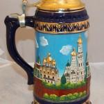 Огромная пивная кружка с Кремлём. Ручная роспись. 32 см!