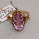 Кольцо, перстень с аметистом? Золото 583 проба