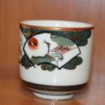 Чашка, стакан. Ручная роспись. Цапля, лошадь. Китай, Япония. Рубеж 19 - 20 века