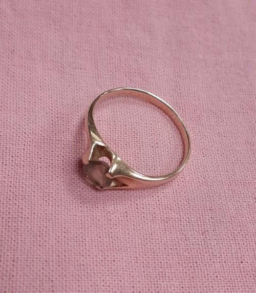 Кольцо золотое с дымчатым топазом
